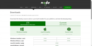 Node.js download and install